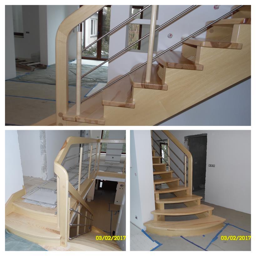 schody drewniane kolaz 40 Schody drewniane Drewrys